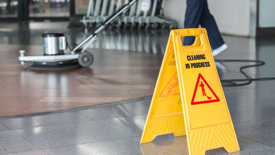 Clean floor sign